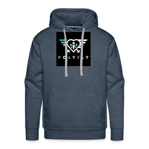 PolyFly Official Logo Wht Color - Men's Premium Hoodie