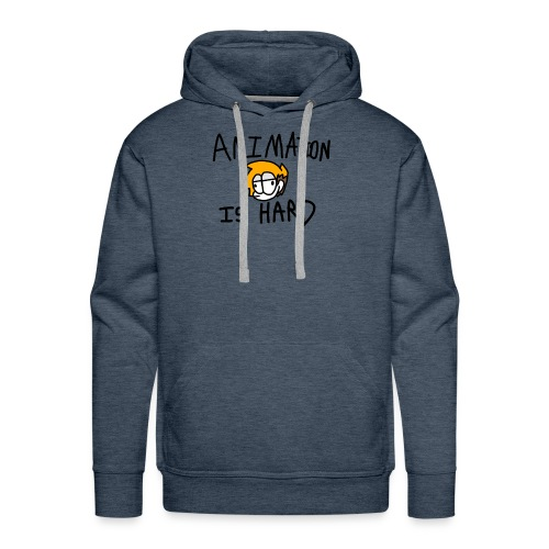 animation is hard - Men's Premium Hoodie