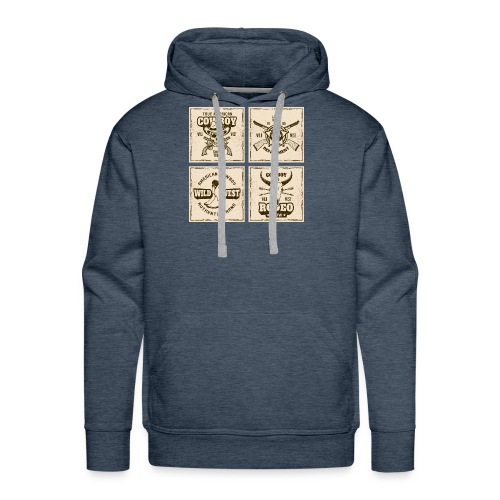 American Cowboy Rodeo Show Wild West Collection - Men's Premium Hoodie