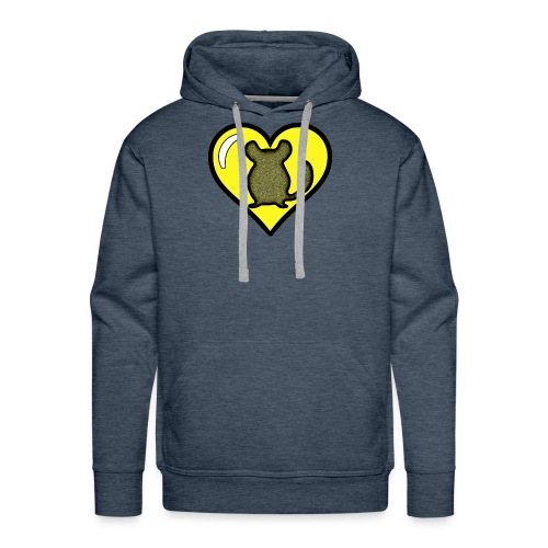 Yellow Chinchilla Heart - Men's Premium Hoodie