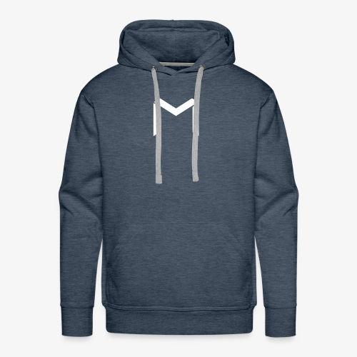 mavro logo white - Men's Premium Hoodie