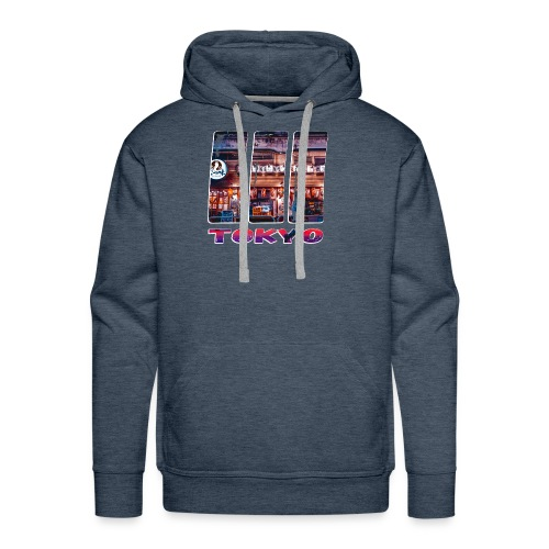 Tokyo Japan Nightlife Purple - Men's Premium Hoodie