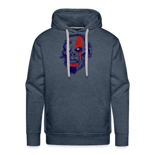 t shirt design 26 gorilla kratos by marekpl d - Men's Premium Hoodie