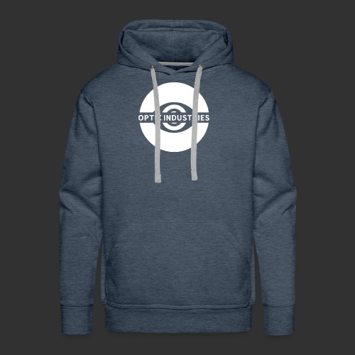 OPTIC Industries logo (White) - Men's Premium Hoodie
