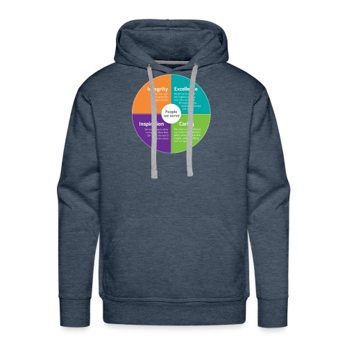 Integrity Excellence Caring Inspiration - Men's Premium Hoodie