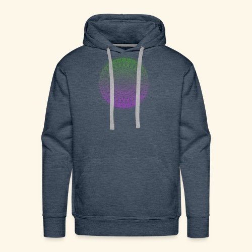 Green / Purple Mandala - Men's Premium Hoodie