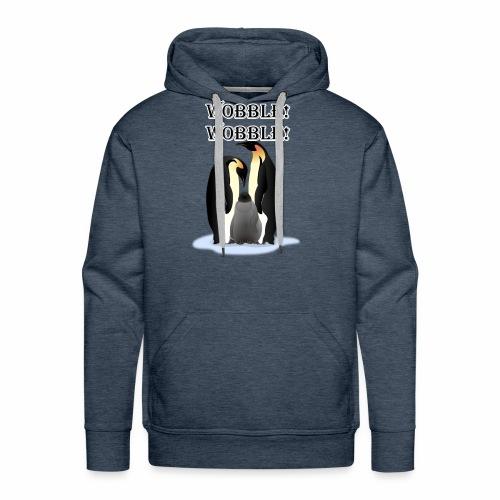 Wobbley Penguin - Men's Premium Hoodie