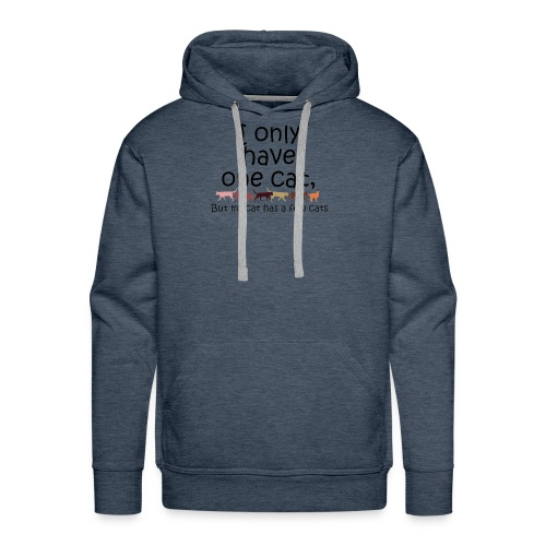 I only have one cat but my cat has a few cats - Men's Premium Hoodie