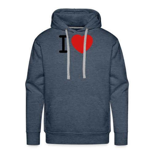 I Love (what you love in here) Insert your text. - Men's Premium Hoodie