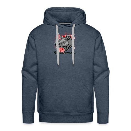 Rhino Blood Splatter - Men's Premium Hoodie