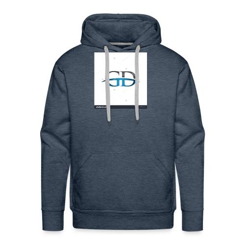 stock vector gd initial company blue swoosh logo 3 - Men's Premium Hoodie
