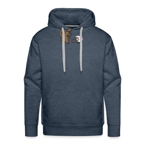 Barr and Sheep funny tshirt - Men's Premium Hoodie