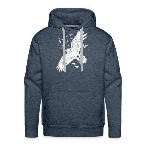 Winter Raven Funny - Men's Premium Hoodie