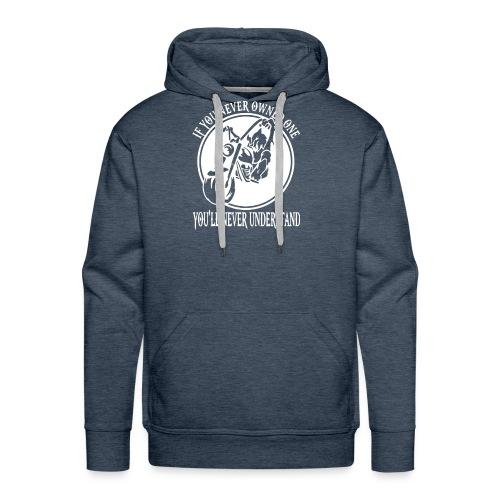 WOLF BIKER FUNNY - Men's Premium Hoodie
