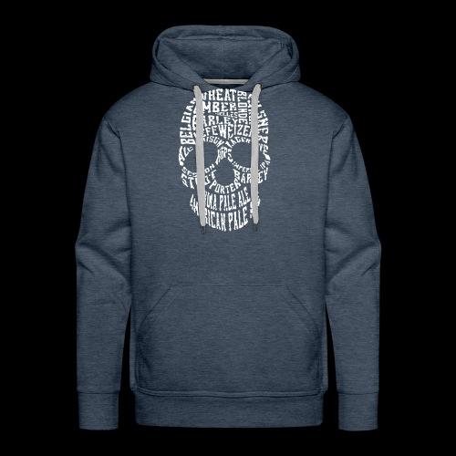 Typography Skull Logo - Men's Premium Hoodie