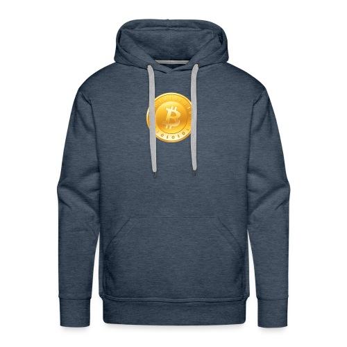 Bitcoin Coin Logo - Men's Premium Hoodie