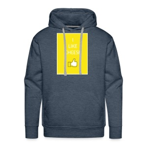 i like cheese - Men's Premium Hoodie
