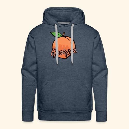 Georgia Peach w/ ATL - Men's Premium Hoodie