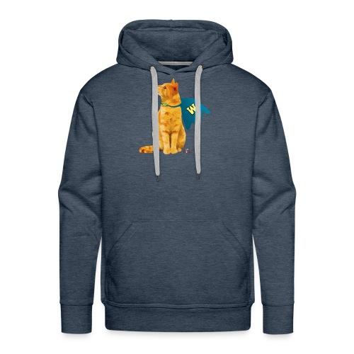 Wonder Cat with Cape - Men's Premium Hoodie