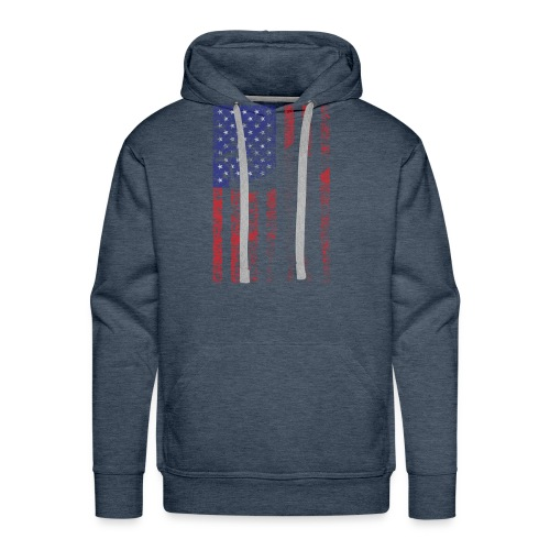 bow flag seperated2 - Men's Premium Hoodie