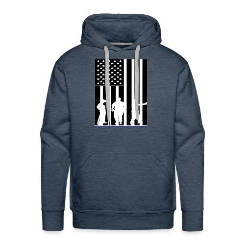 LAW ENFORCEMENT TRIO FLAG SHIRT - Men's Premium Hoodie