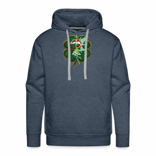 Irish Fairy Four Leaf Clover - Men's Premium Hoodie