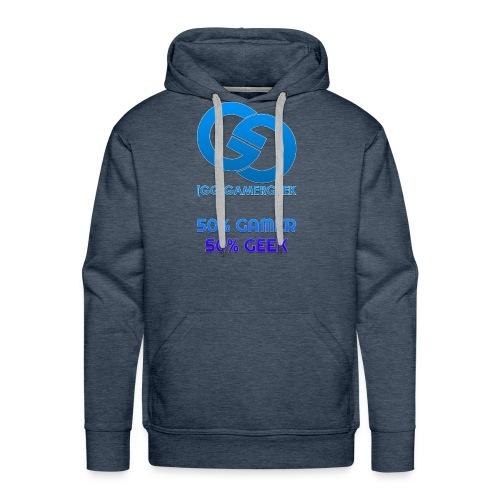 GamerGeeks Logo And Slogan - Men's Premium Hoodie