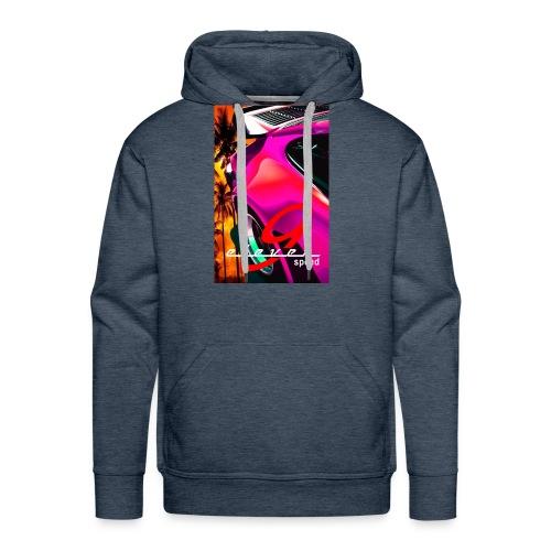 911 Car T-Shirt Whale Tail Sports Design Pink - Men's Premium Hoodie