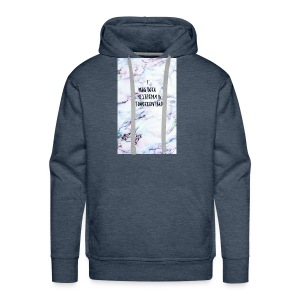 Quote- i was born yesterday in tomorrow land - Men's Premium Hoodie