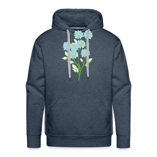 blue flower - Men's Premium Hoodie