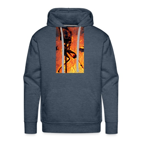 Fire Basketball Player - Men's Premium Hoodie