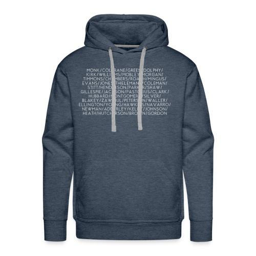 Jazz Greats 1 TShirt (White Lettering) - Men's Premium Hoodie