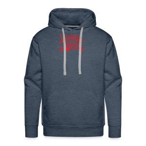 Humanity Barbell Red with Heart - Men's Premium Hoodie