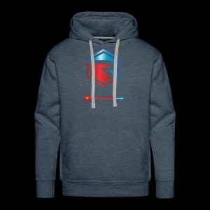 Red/Blue Logo with YouTube - Men's Premium Hoodie
