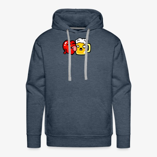 I love beer too much - Men's Premium Hoodie