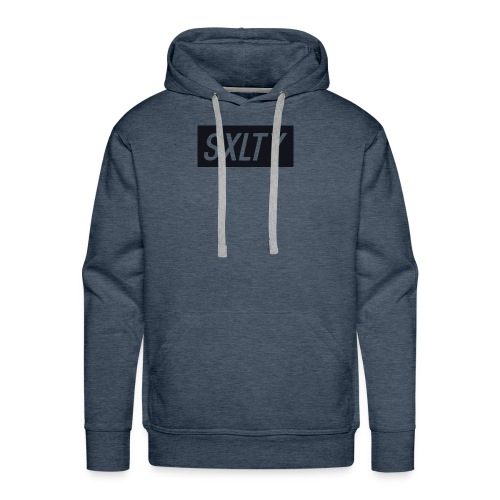 *Dark Blue SXLTY Logo* REGULAR TSHIRT. - Men's Premium Hoodie