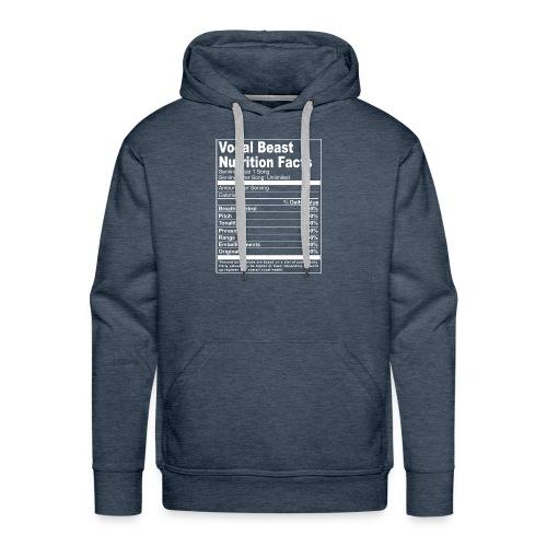 Vocal Nutrition White on Blk Streetwear - Men's Premium Hoodie