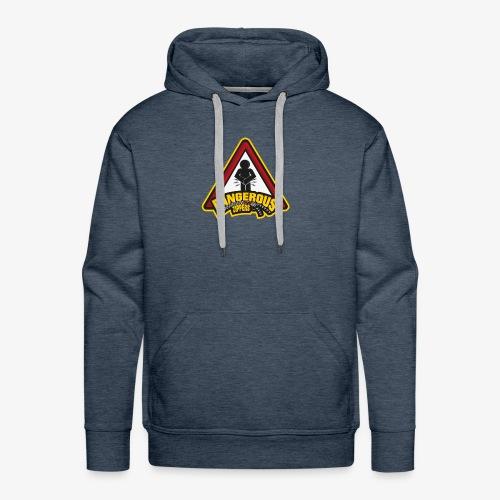 Dangerous Zipper Logo - Men's Premium Hoodie