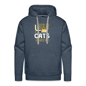 I REALLY HATE CATS - ALTERNATIVE FACTS - Men's Premium Hoodie