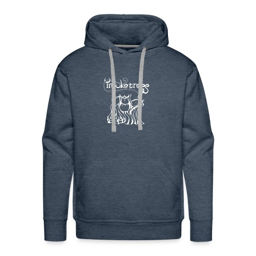 Invoketress Bellies Logo in White - Men's Premium Hoodie