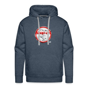 red logo white youtube - Men's Premium Hoodie