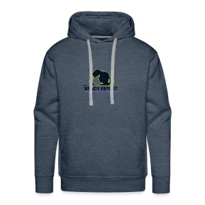 The Wendy Report Logo - Black - Men's Premium Hoodie