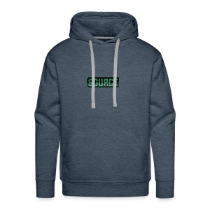 Green and Black Source Logo - Men's Premium Hoodie