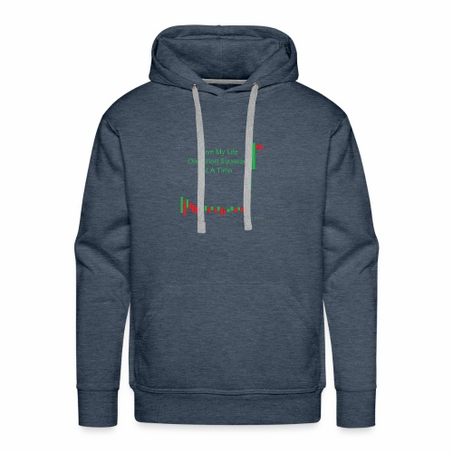 I live my life one short squeeze at a time - Men's Premium Hoodie