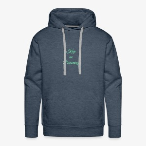 Keep on Dreaming in mint - Men's Premium Hoodie