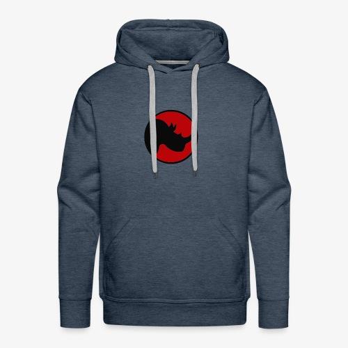 rhino logo - Men's Premium Hoodie