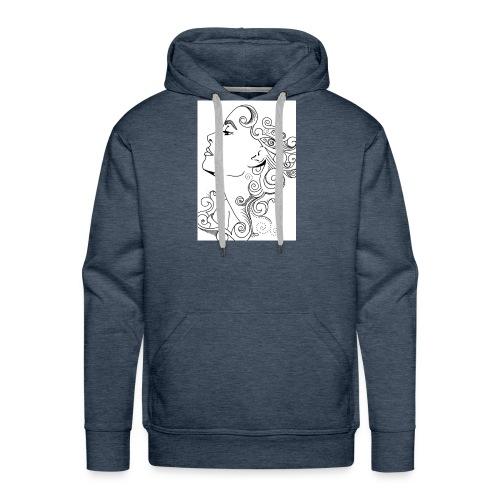 Membuat Doodle Art Wajah 719x1024 - Men's Premium Hoodie