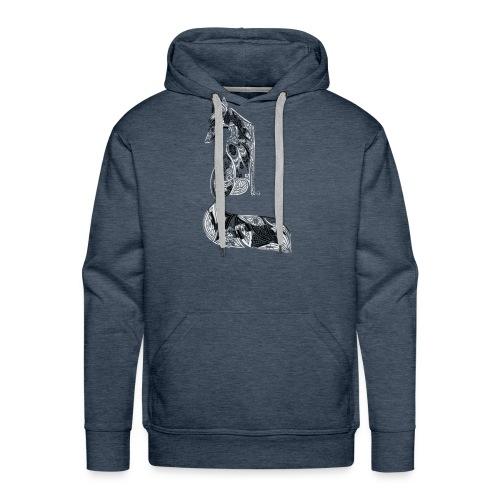 fox distressed inverted design - Men's Premium Hoodie