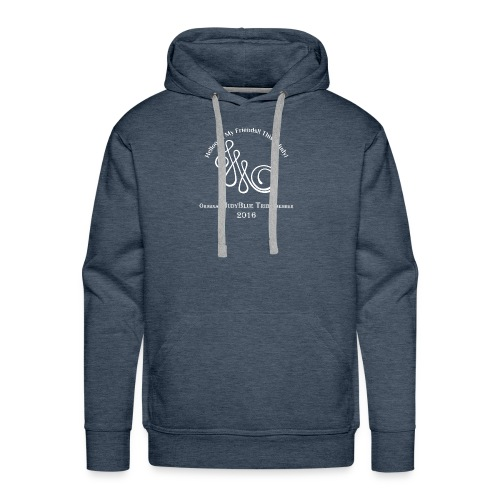 Original Member JudyBlue Tribe 2016 (white logo) - Men's Premium Hoodie