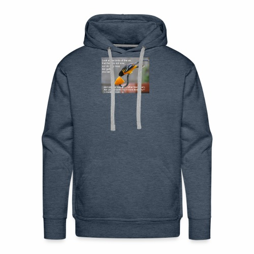Male Oriole and Inspirational Message - Men's Premium Hoodie